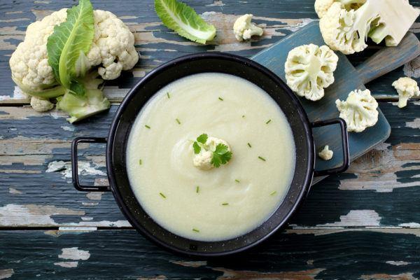 Sopas quemagrasas sopa con coliflor