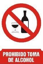 Prohibido alcohol