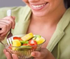 Mayor consumo fruta y verdura menor aumento peso