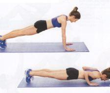 Flexiones de brazos | Ejercicios para rutina de entrenamiento