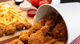 Peligroso cancerígeno hallado en Comidas rápidas contenido en el pollo asado