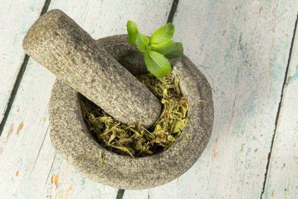 Mortero edulcorante stevia