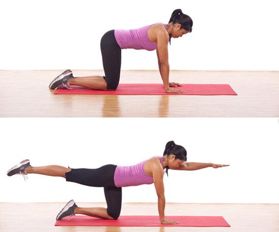 ejercicios-para-fortalecer-la-espalda-Extensión-de-espalda-con-alcance-de-brazo-y-pierna-opuesta