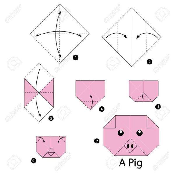 Como hacer origami cerdo