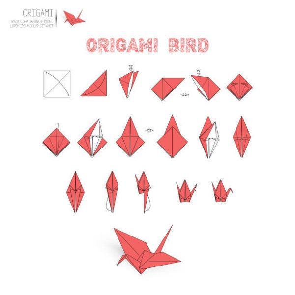 Como hacer origami pajaro