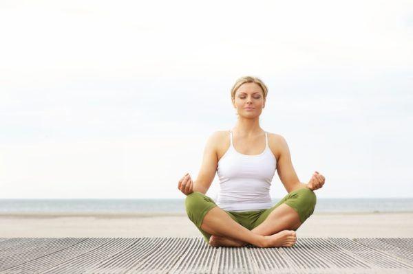 Meditacion mujer hipopresivo