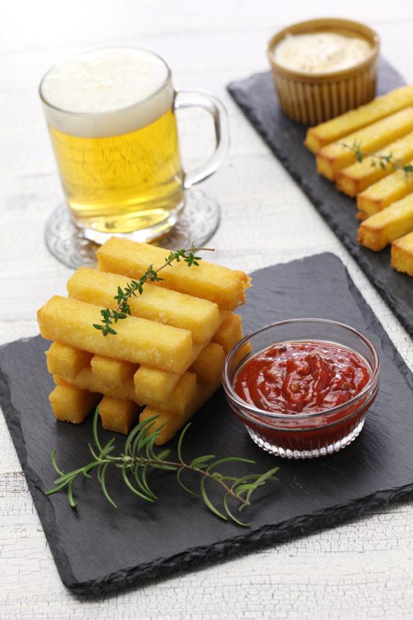 Tipos de polenta polenta al horno con salsa marinara