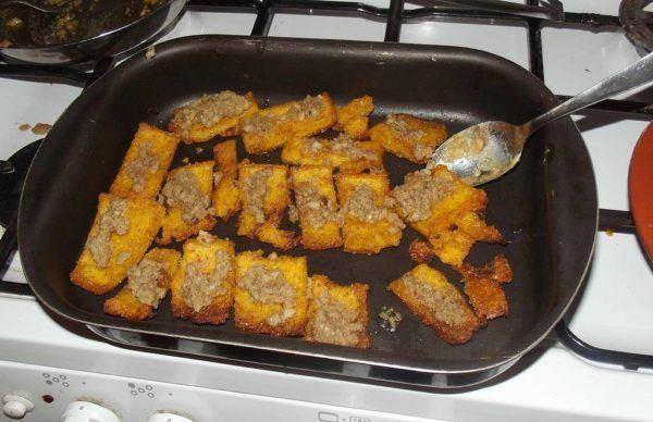 Polenta al horno con queso