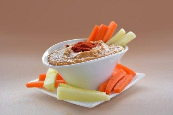 Hummus receta arabe pimenton al servir