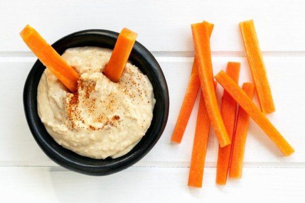 Propiedades del hummus zanahoria y apio