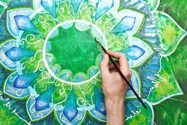 que-es-y-significado-de-un-mandala-pintando-mandala-verde-como-hacer-para