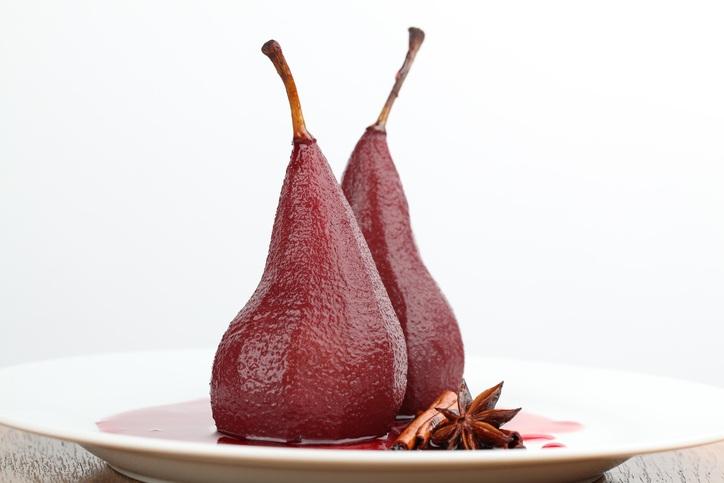 Postres saludables peras al vino