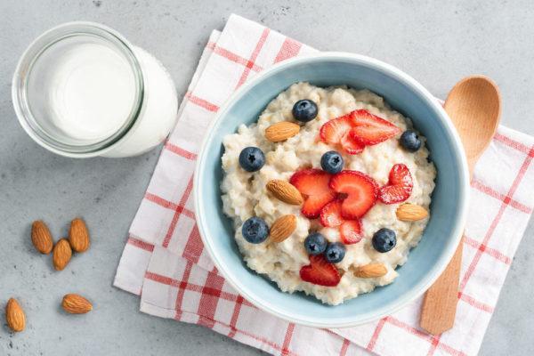 Delicioso porridge de avena